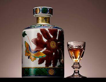 響 35年 古九谷写し 色絵牡丹蝶図筒形瓶