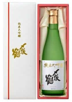 〆張鶴 純米大吟醸酒 白ラベル