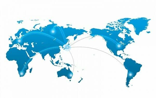 世界への輸出ルート