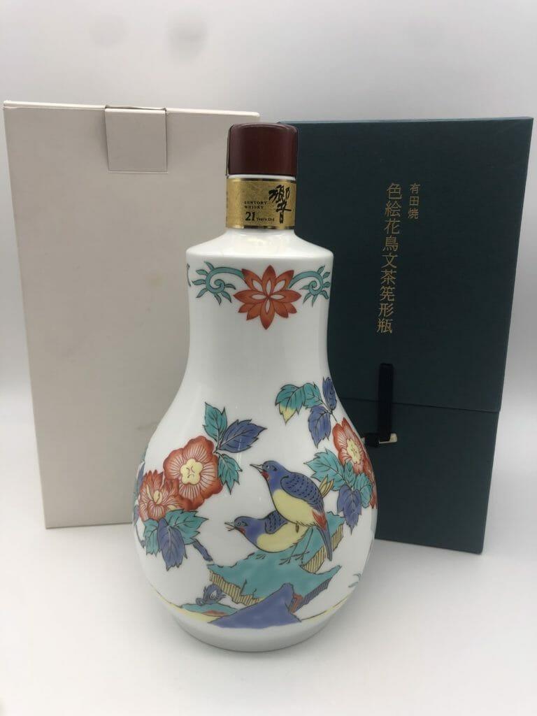 【ウイスキー買取】サントリー響21年 有田焼 色絵花鳥文茶筅形瓶を高価買取させていただきました。お酒買取実績紹介! 5