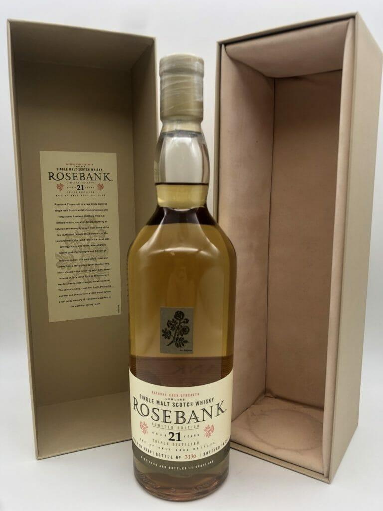 【ウイスキー買取】すでに閉鎖された蒸溜所の終売品『ローズバンク21年』を買取いたしました。お酒買取実績紹介! 3